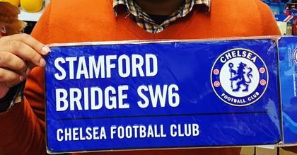 chelsea football team street sign