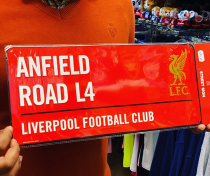 liverpool football team street sign