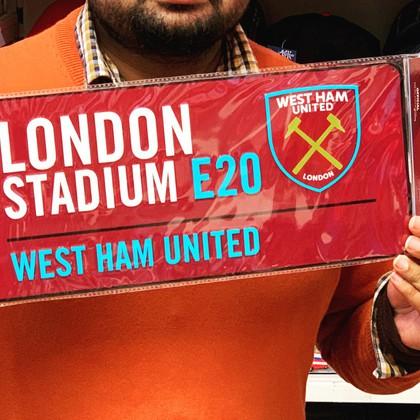 west ham football team street sign