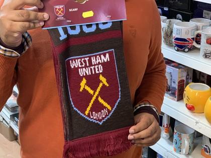 west ham football team scarf