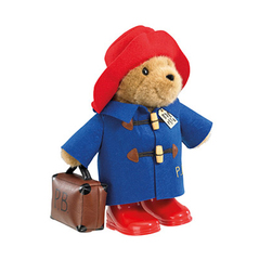 paddington bear in boots and suitcase