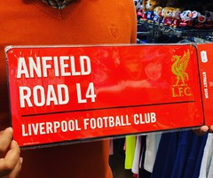 liverpool football street sign