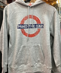 mind the gap gray hoodie