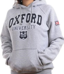oxford university hoodie in gray