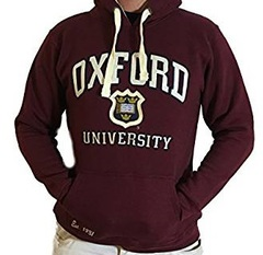 oxford university hoodie in maroon