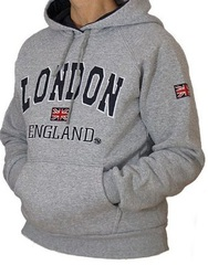 london hoodie in gray