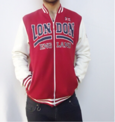 london college sweatshirt in red