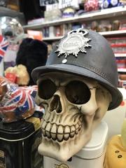 london police skull head