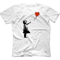 banksy heart balloon t-shirt