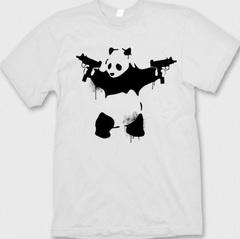 banksy panda t-shirt